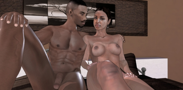 3D Sex mit Model Adeale